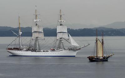 Windjammer in Bergen 12. August 2008