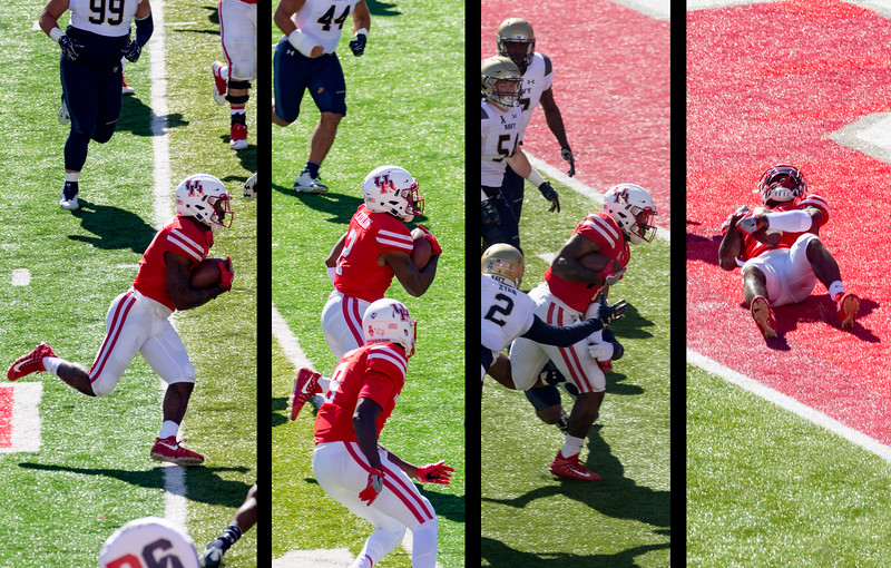 Catalon rushes for a touchdown, which is then nullified by a penalty.