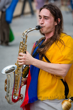 St. Louis Earth Day Festival 2014 pictures Saxaphone Musician