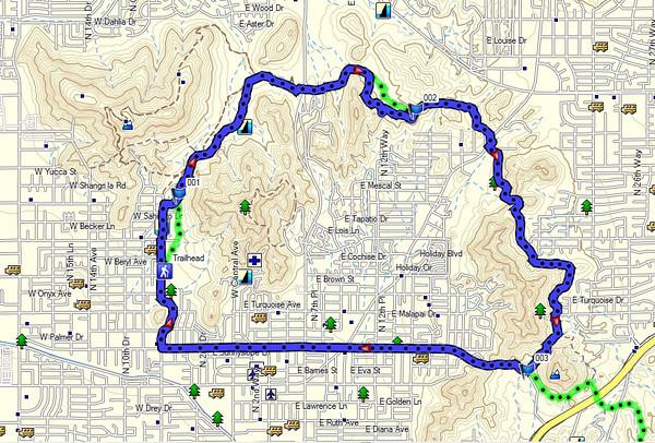 2013-04-15 Phoenix Mountain Preserve Trail 100