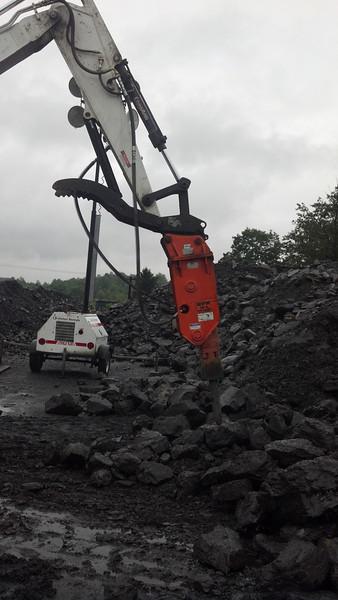 NPK GH4 hydraulic hammer on Bobcat  mini excavator (7-20-12) (1).jpg