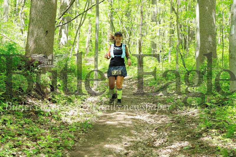 Morraine ultra runner bib 235 not a 50-mile runner. 30k???  Seb Foltz/Butler Eagle
