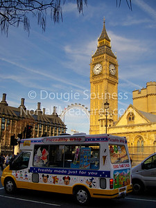 'Piccadilly Whip'  24 March 2011  Ice cream van, Big Ben, & London Eye!   Westminster, London, England