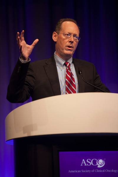 Chicago, IL - ASCO 2013 Annual Meeting: - Dr. Paul Farmer speaks during the Opening Session at the American Society for Clinical Oncology (ASCO) Annual Meeting here today, Saturday June 1, 2013.  Over 30,000 physicians, researchers and healthcare professionals from over 100 countries are attending the meeting which is being held at the McCormick Convention center and features the latest cancer research in the areas of basic and clinical science. Photo by © ASCO/Silas Crews 2013 Technical Questions: todd@toddbuchanan.com; ASCO Contact: photos@asco.org