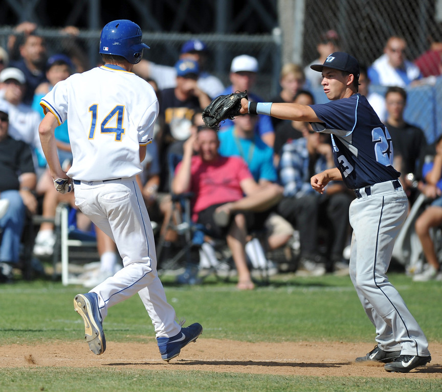 . La Mirada plays Los Osos in their CIF quarterfinal baseball game at La Mirada High School on Friday May 24, 2013. Los Osos beat La Mirada 8-5. (SGVN/Staff Photo by Keith Durflinger)