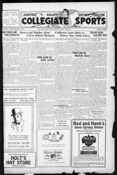 Daily Trojan, Vol. 17, No. 10, September 29, 1925