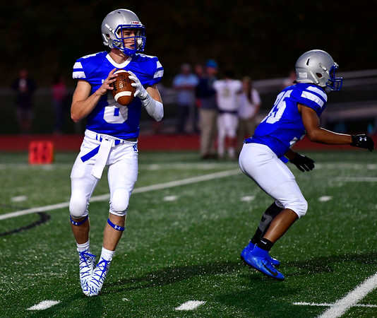 9/20/2019 Mike Orazzi | StaffrBristol Eastern's Bryce Curtin (8) during Friday night football in Bristol. rrrrrr