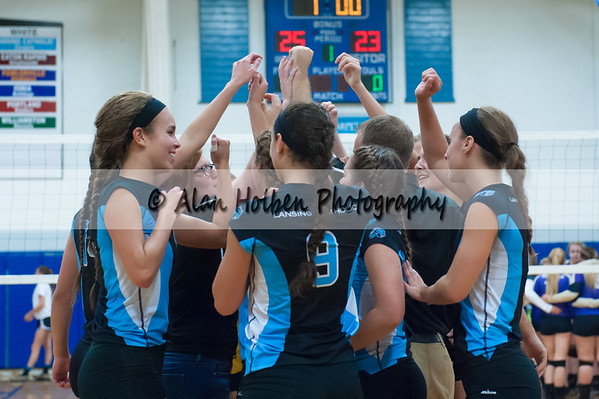 Varsity Volleyball - Fowlerville at Lansing Catholic