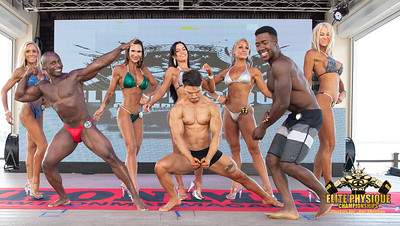 Men and Women Winners on Stage