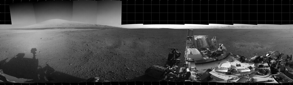 . FILE - This Aug. 18, 2012 image provided by NASA shows the Curiosity rover\'s landing site and Mount Sharp in the distance. (AP Photo/NASA)