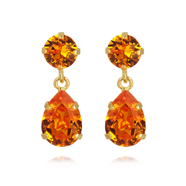 Mini Drop Earrings / Tangerine