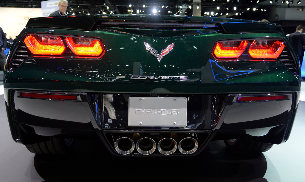 . Nov 20,2013 Los Angeles CA. USA. The new Chevy Sting Ray corvette on display during the 2013 Los Angeles Auto Show. Photo by Gene Blevins/LA Daily News
