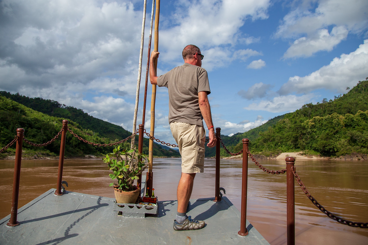 Sailing on the Mekong River