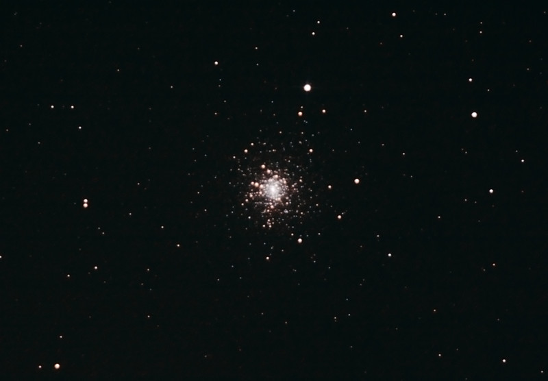 Messier M30 - NGC7099 - Globular Cluster in Capricornus - 10/08/2012 (Processed cropped stack)   DeepSkyStacker 3.3.2 Stacked 85% of 17 Images ISO 800 120 Sec, 61 DARK, 0 BIAS, 0 FLATS, Post-processed by Photoshop CS5  Telescope - Bintel BT200 f/4.0 Newtonian (borrowed from Stephen Boyd) with Baader MPCC Coma Corrector, Hutech LPS-P2 filter, Canon 40D DSLR field 64'x95', Ambient 13C. Mount - Skywatcher NEQ6 Pro. Guidescope - Orion ShortTube 80 with Star Shoot Auto Guider.