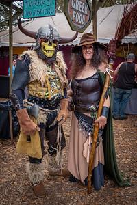 Costumed Magical Festival Visitors