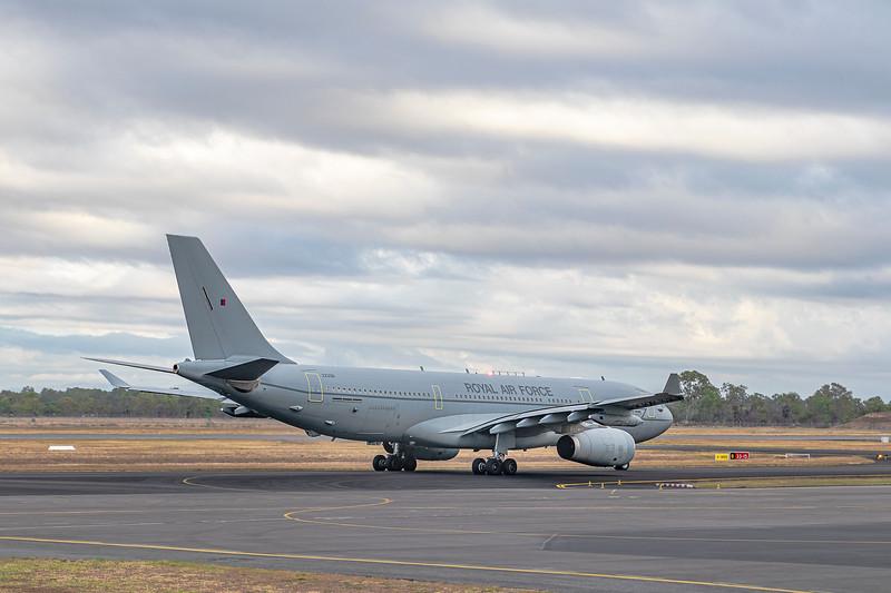Royal Air Force Airbus KC2 Voyager A330-243MRTT ZZ338 Rockhampton Airport; RAF;