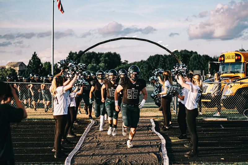 Holy Family Varsity Football vs. Dassel-Cokato, 9/6/19: Captain Seth Thompson '20 (52)