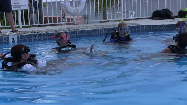 Devon learns to dive