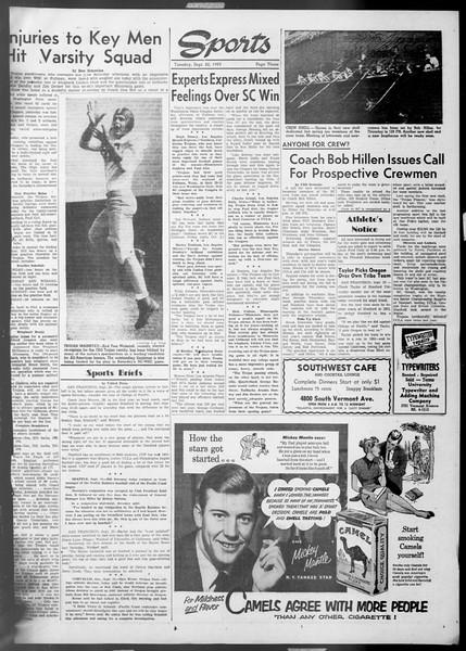Daily Trojan, Vol. 45, No. 2, September 22, 1953