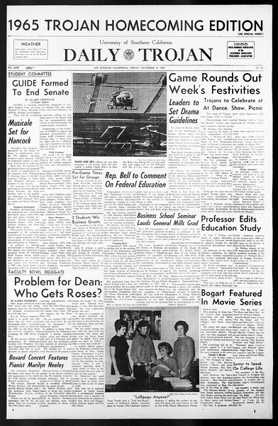 Daily Trojan, Vol. 57, No. 44, November 19, 1965