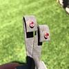.98ctw Padparadscha Sapphire Bezel Stud Earrings 13