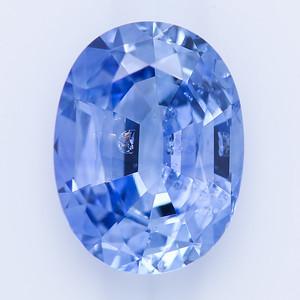 2.93 post-consumer blue sapphire, light blue ceylon (PCS 1158)