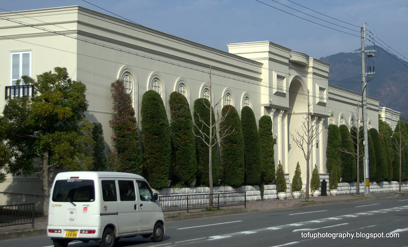 A beautiful European style building in Kyoto, Japan in March 2015
