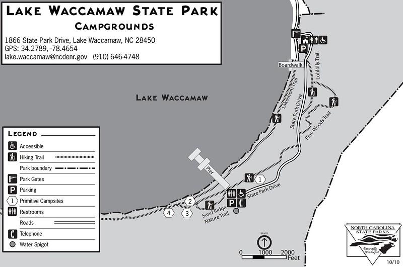 Lake Waccamaw State Park (Campground Map)