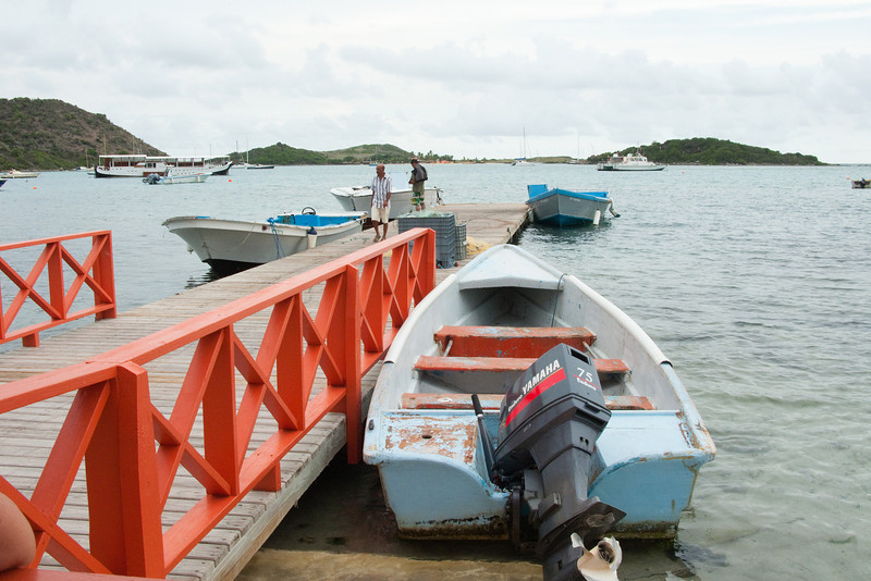 Waiting for ferry out to Pinel Island