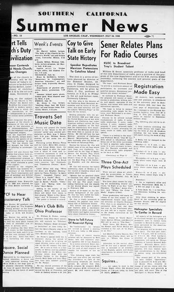 Summer News, Vol. 1, No. 13, July 24, 1946