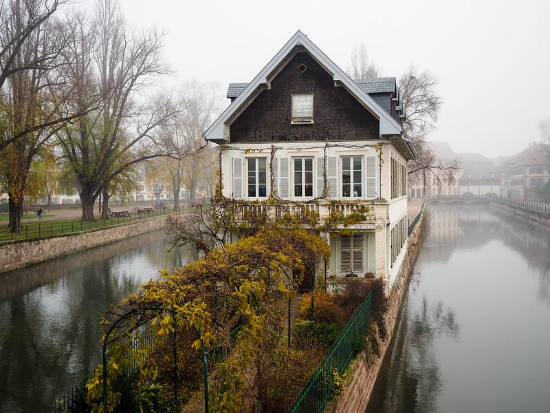Strasbourg, France in the fog