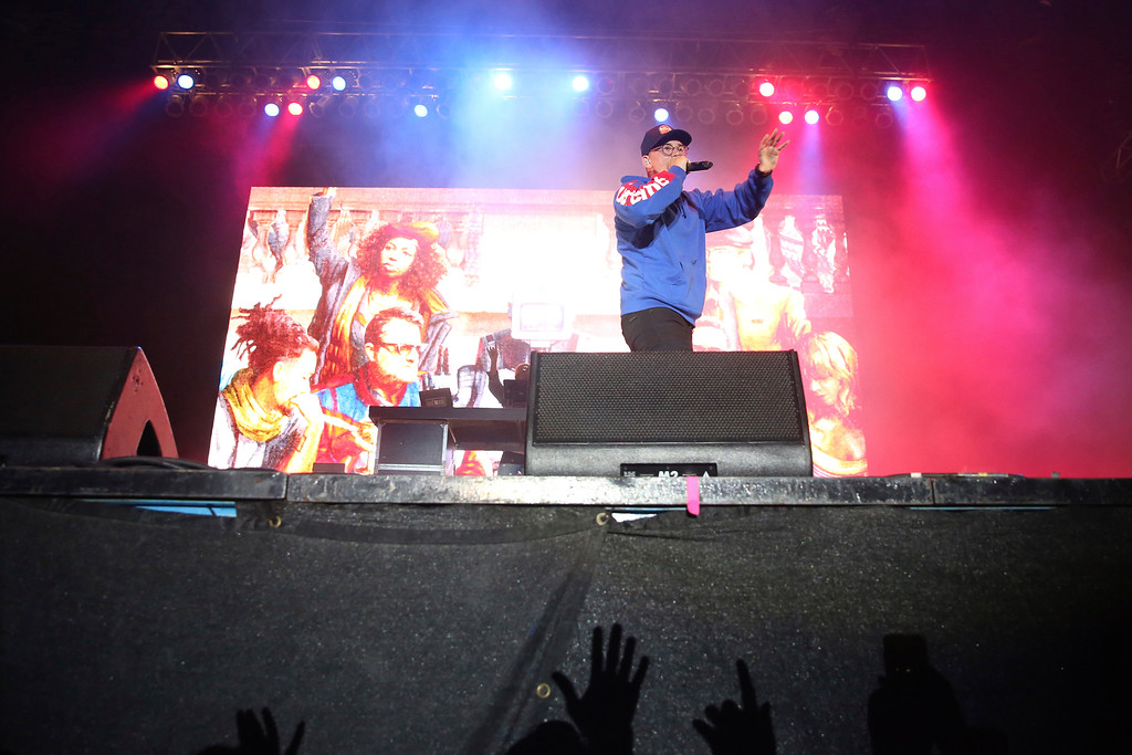 . Artist Logic performs on the FedEx Stage at Beale Street Music Festival on Saturday, May 5, 2018 in Memphis, Tenn. Logic performs July 6 at Blossom Music Center. For more information, visit livenation.com/venues/14481/blossom-music-center. (Photo by Laura Roberts/Invision/AP)