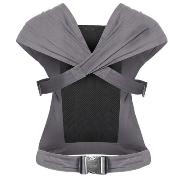 Izmi_Baby_Carrier_Cotton_Mid_Grey_Product_Ghost_Back.png