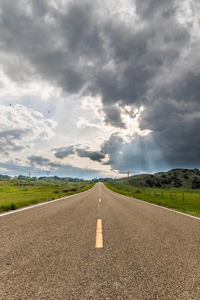 Frontage Road in Eastern Rosebud Co