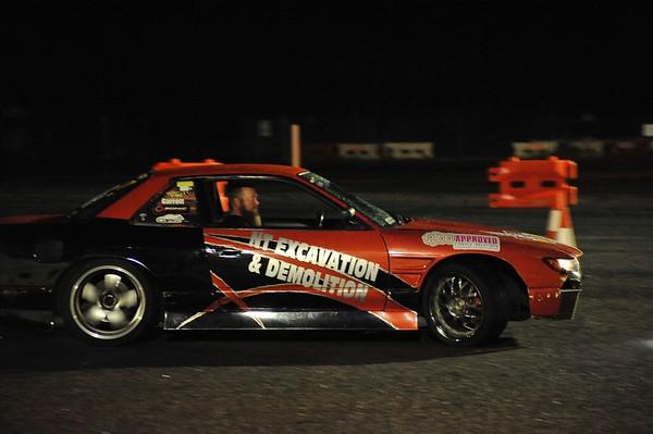 Friday night drift session on