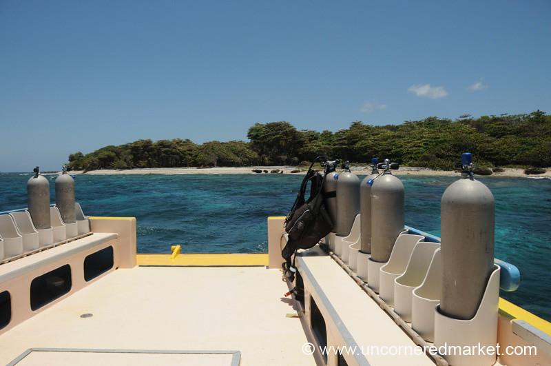 Scuba Diving Boat - Utila, Honduras