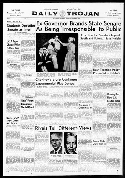 Daily Trojan, Vol. 52, No. 24, October 20, 1960