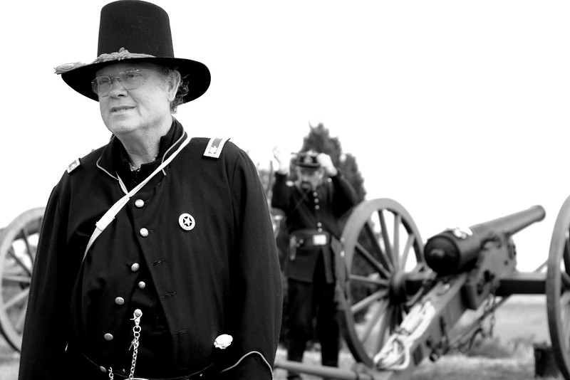 Colonel Vernon Terry musters his troops for an artillery demonstration at Patriots Point in Mt. Pleasant, South Carolina on Sunday, April 10, 2011. ..The 150th Anniversary of the Firing on Ft. Sumter was commemorated with lectures, performances, demonstrations, and a living history throughout the area on James Island, Charleston, Mt. Pleasant, and Sullivan's Island during the week from April 8-14, 2011. Photo Copyright 2011 Jason Barnette