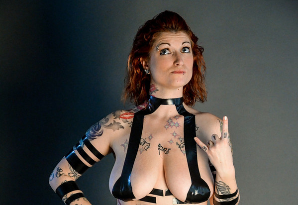 Katie Set 3 electrical tape implied nude fetish