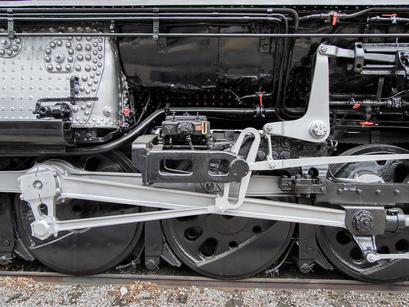 Running Gear on the Union Pacific Big Boy Steam Engine 4006