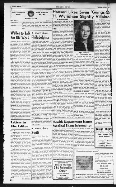Summer News, Vol. 1, No. 21, August 16, 1946