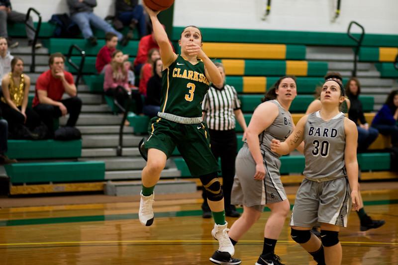 Clarkson Athletics: Women Basketball vs. Bard. Clarkson win 76-46