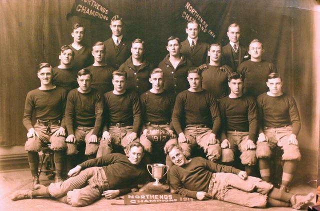 C.B. Werts w/Northenders Football 1912