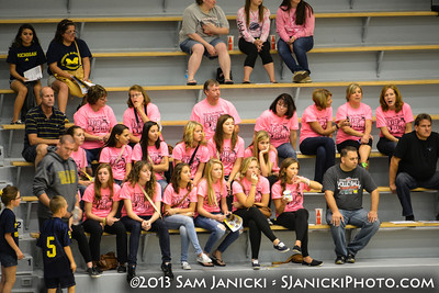 Michigan Volleyball Vs Iowa [Pink Game] 10-12-13
