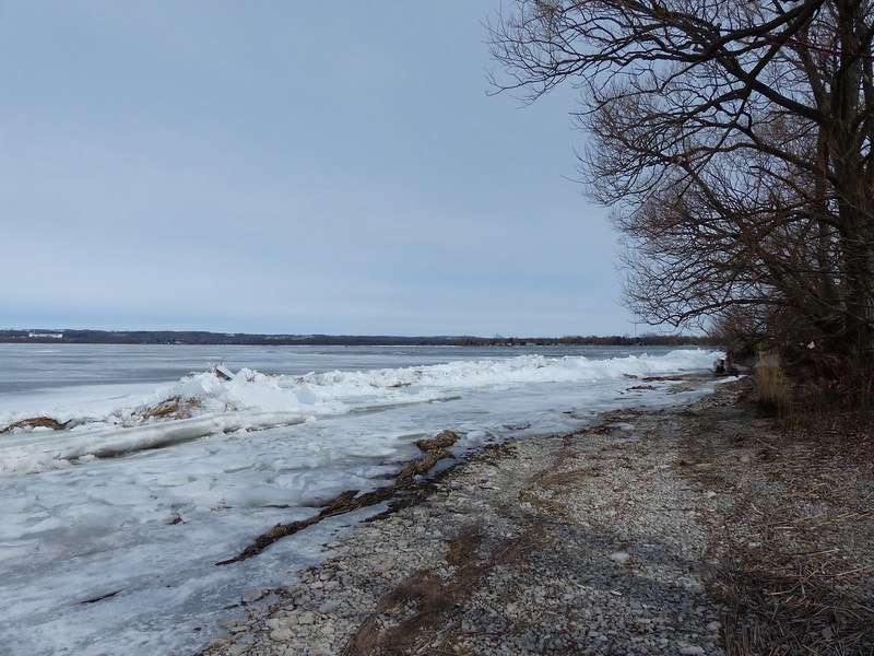 There was still plenty of ice in the bay on March 16.
