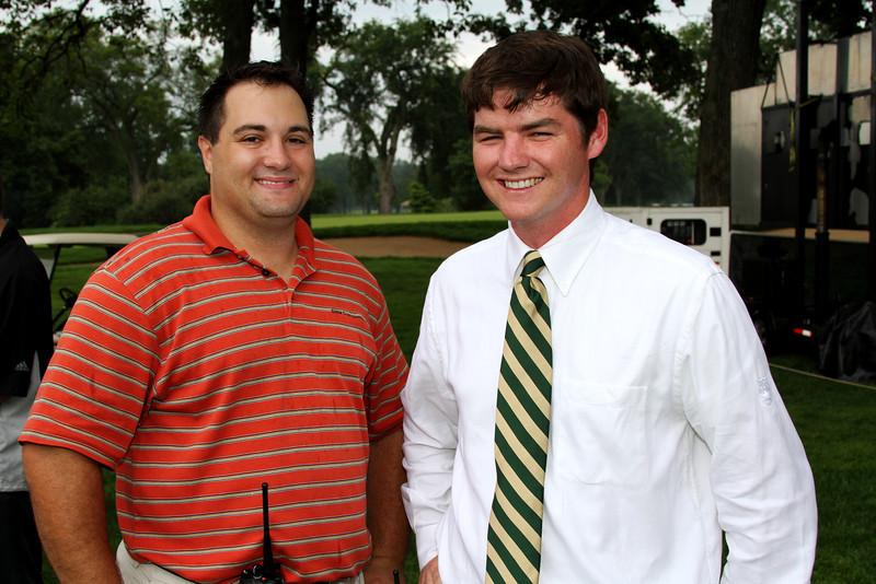 WGA Operations Associate Dan Niemiec and Tournament Manager Marty Norris Saturday morning.