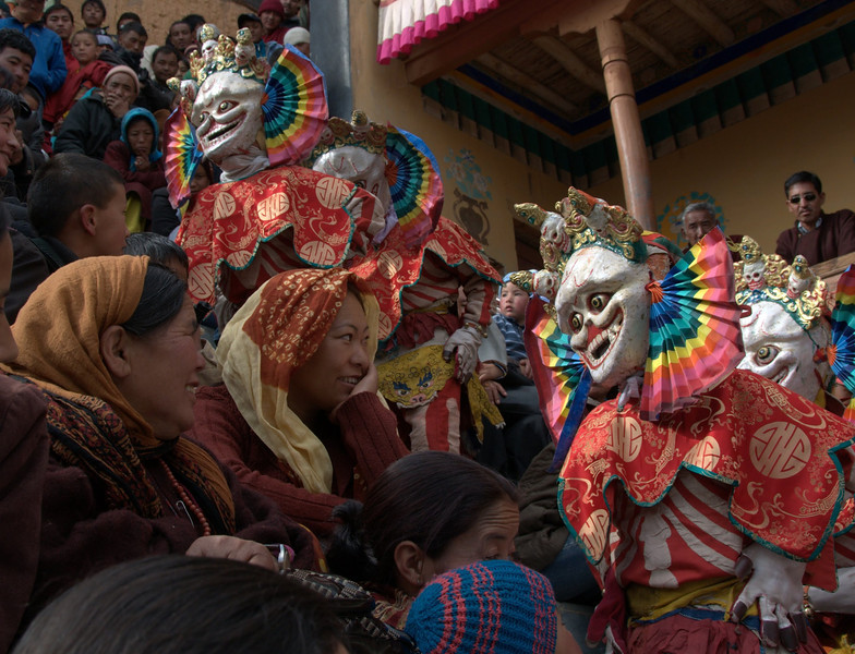 Thiksey monastery mask dance festivities.