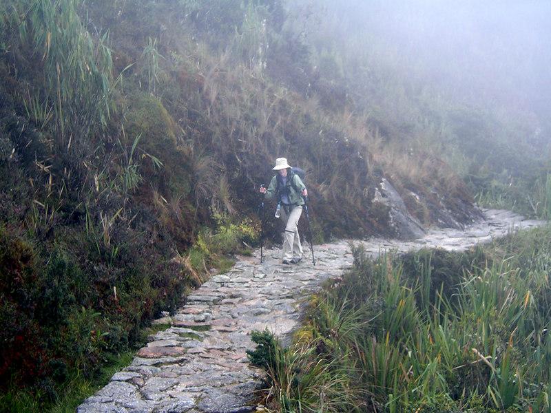 Hiking the Inca Trail.