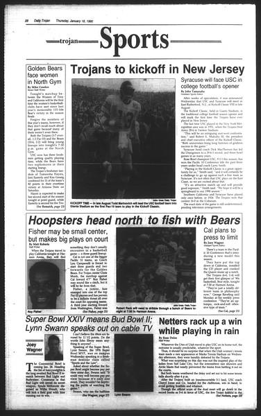 Daily Trojan, Vol. 111, No. 5, January 18, 1990