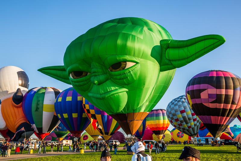 Yoda - Balloon Fiesta 2014